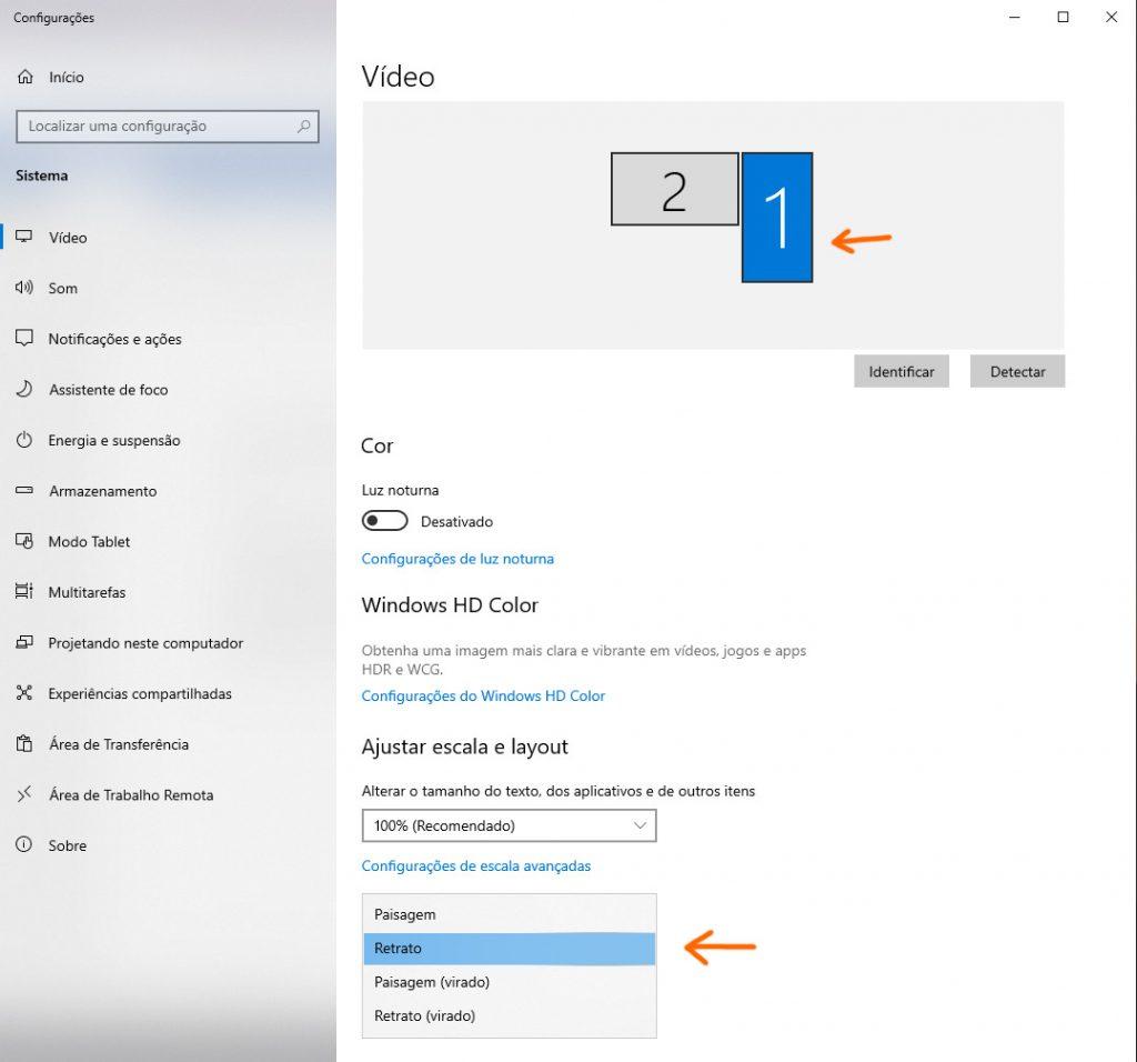 configuracao monitor windows