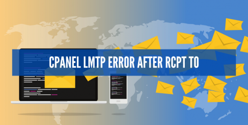 CPANEL LMTP ERROR AFTER RCPT TO